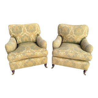 George Smith Standard Arm Chairs - A Pair For Sale