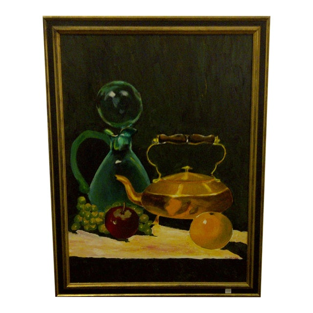 """Vintage """"Tea Kettle"""" Painting by John Micheal For Sale"""