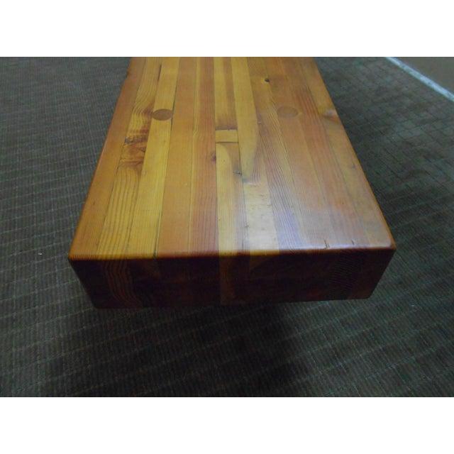 Midcentury Studio Butcher Block Coffee Table - Image 6 of 10