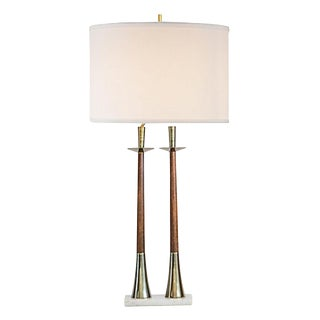 Danish Modern Teak Candlestick Lamp For Sale
