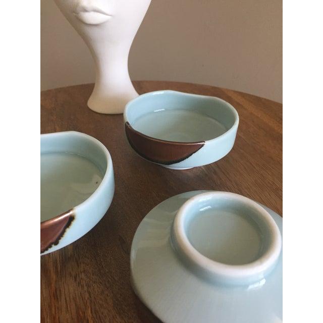 Handmade Ceramic Serving Bowls - Set of 3 For Sale - Image 4 of 6