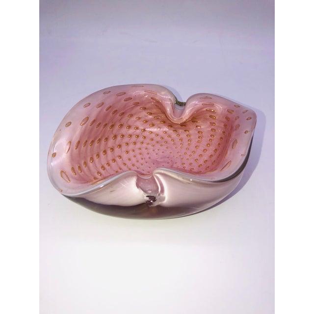 Italian Murano Barbini Bullicante Bowl For Sale - Image 11 of 11