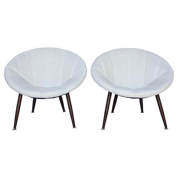 Douglas Eaton MCM Saucer Chairs - A Pair - Image 3 of 5