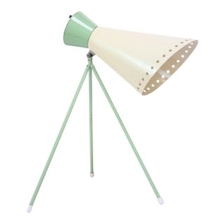 Mint Green Tripod Table Lamp by Josef Hurka for Napako