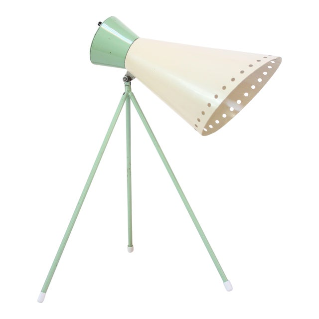 Mint Green Tripod Table Lamp by Josef Hurka for Napako For Sale