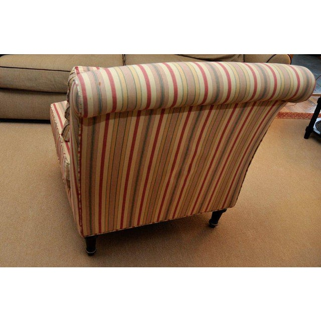 Lillian August Lillian August Striped Slipper Chair For Sale - Image 4 of 6