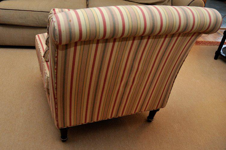 Lillian August Striped Slipper Chair   Image 4 Of 6