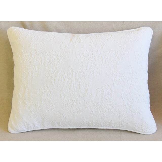 "French Provençal Quilted Feather/Down Pillows 23"" X 17"" - Pair For Sale - Image 4 of 13"