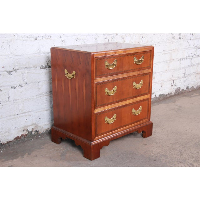 Baker Furniture Chippendale Fruitwood Chest of Drawers or Commode For Sale In South Bend - Image 6 of 13
