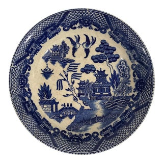 Vintage Blue Willow Porcelain Bowl 2 For Sale