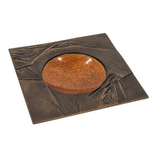 Gio Ponti and Del Campo Emanel Tray For Sale