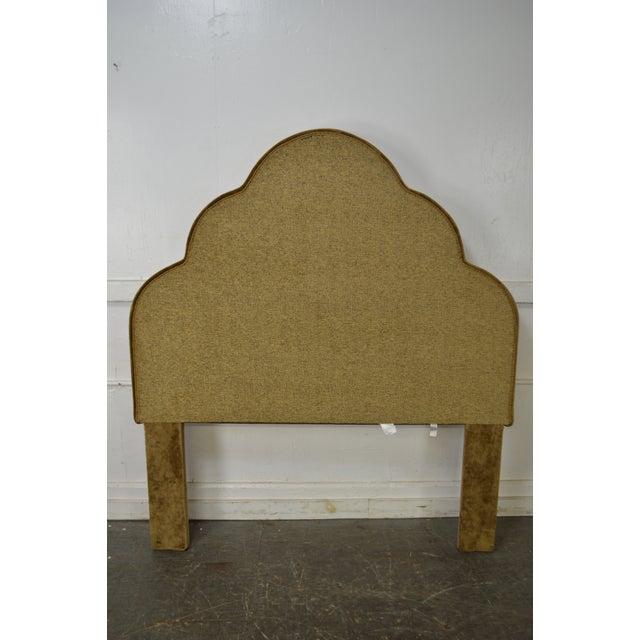 Robert Allen Robert Allen Tufted Upholstered Full Size Headboard For Sale - Image 4 of 9