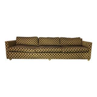 Mid-Century Modern Milo Baughman for Selig Tuxedo Style Sofa For Sale