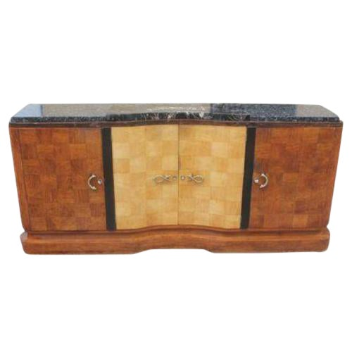 French Art Deco Palisander and Sycamore Buffet / Sideboard By Tricoire Circa 1930s - Image 1 of 11