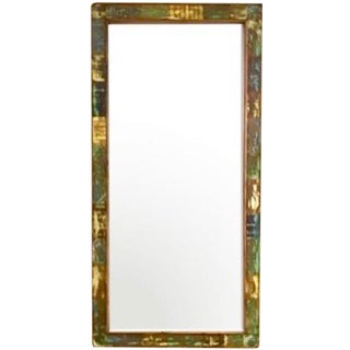 Floor Mirror - Eco-Friendly Reclaimed Solid Wood For Sale