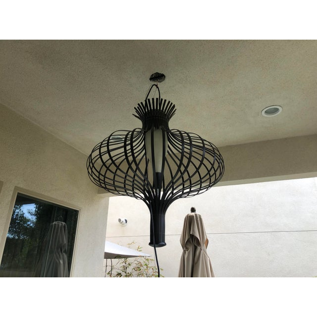 Contemporary Bud Hanging Outdoor Lamp For Sale - Image 3 of 8