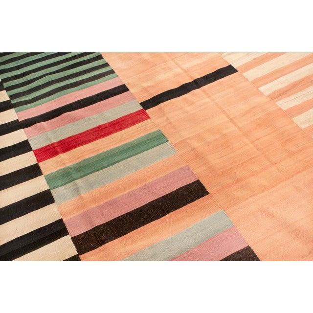 Vintage Geometric Wool Kilim Rug - 8′4″ × 10′2″ For Sale - Image 4 of 6