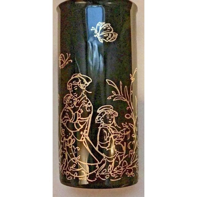 "Edna Hibel Rosenthal ""Festival Annual"" Golden Vase For Sale - Image 10 of 13"