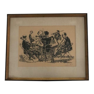 "1960s Lithograph Titled ""Quintet"" Georges Schreiber For Sale"
