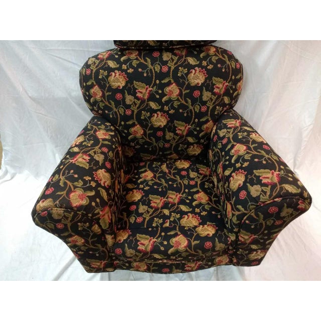 Cotton Early 20th Century Overstuffed Rocker For Sale - Image 7 of 10