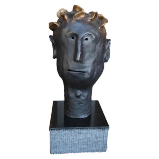 Leroy Bronze Sculpture by Danny First For Sale