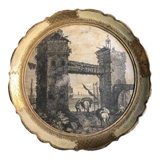 Vintage Florentine Decoupage Tray For Sale