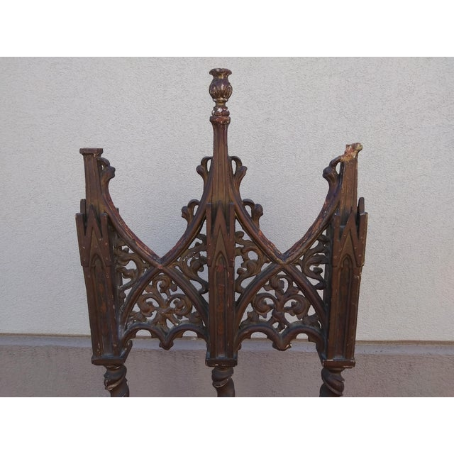 Period Renaissance 16th Century Gothic High Back Chair For Sale In Miami - Image 6 of 12