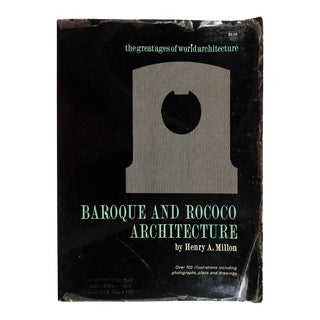 Baroque and Rococo Architecture Book For Sale