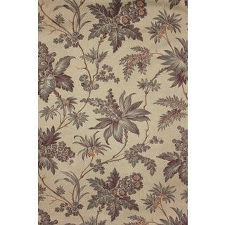 Antique French Belle Epoque Purple & Gray Cotton Fabric Drape Curtain For Sale