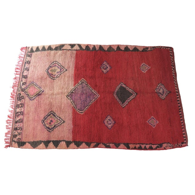 Black Vintage Moroccan Boujad Rug For Sale - Image 8 of 11