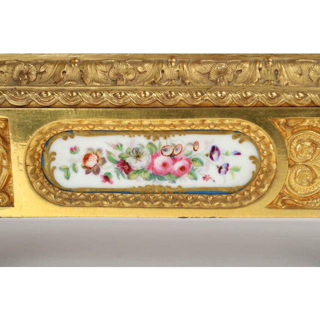 Gilt Bronze & Porcelain Mantel Clock - Image 9 of 11