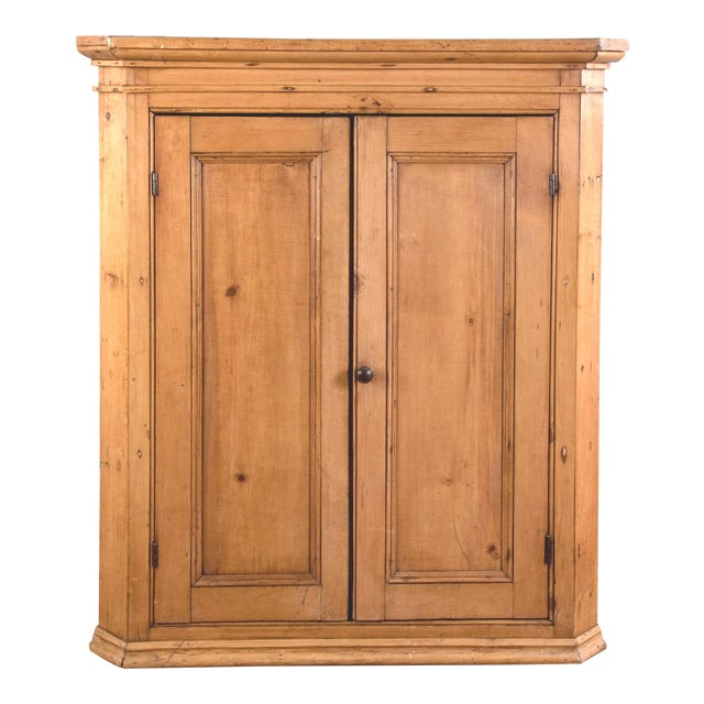 Antique Pine Hanging Corner Cupboard - Image 1 of 5