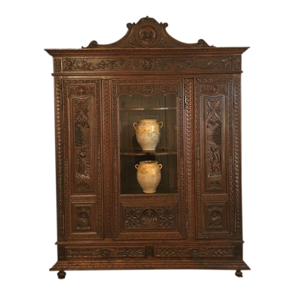 Oak 4 French Provincial Carved Wood Trim