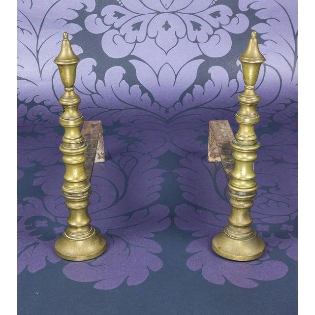 Early 20th Century French Brass Andirons - Image 2 of 8