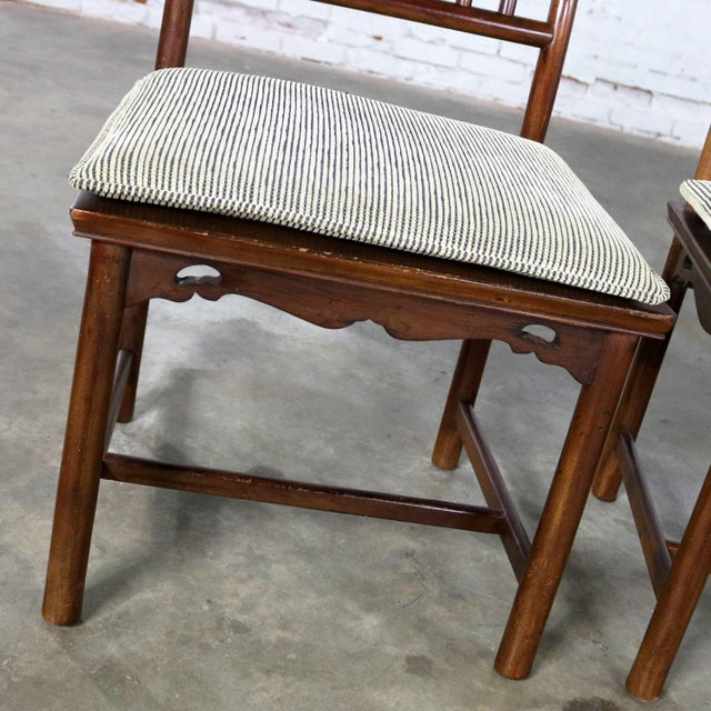 Four Drexel Heritage Chinoiserie Ming Style Spindle Back Dining Chairs For Sale - Image 10 of 13