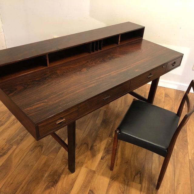 Peter Lovig Nielsen Flip Top Rosewood Desk For Sale - Image 9 of 13