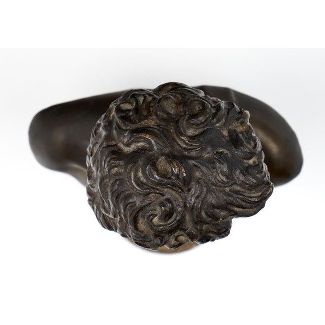 French Antique Bust of David after Michelangelo For Sale - Image 9 of 11