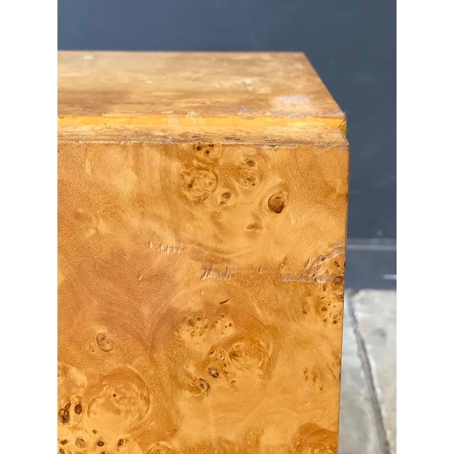 Vintage Milo Baughman Burl Wood Credenza For Sale - Image 9 of 13