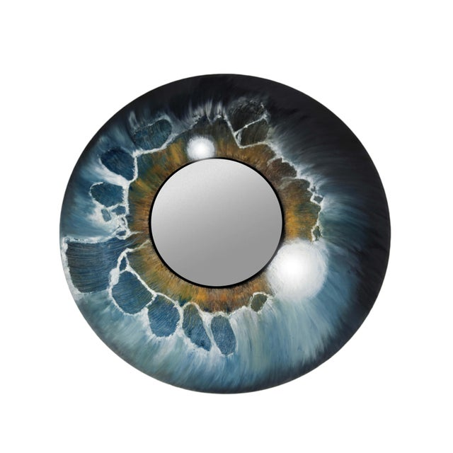 Atelier Miru All Eyes on You, Hand-Painted Mirror by Atelier Miru For Sale - Image 4 of 4