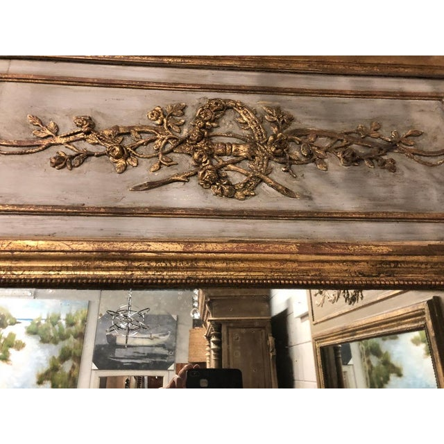 Late 19th Century 19th Century French Louis XVI Gilt Mirror For Sale - Image 5 of 8