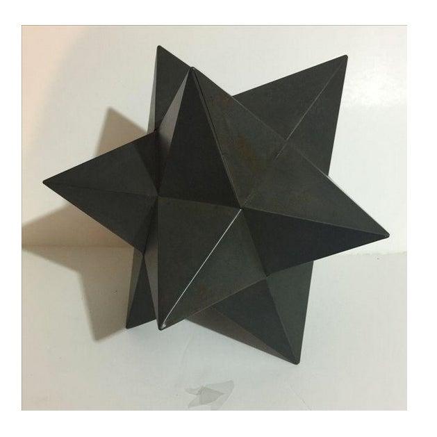 Modern Metal Star Sculpture - Image 2 of 3