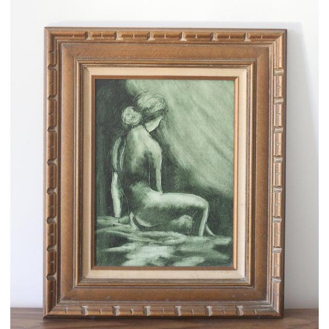 Vintage Mid-Century Nude Woman Portrait - Image 2 of 5