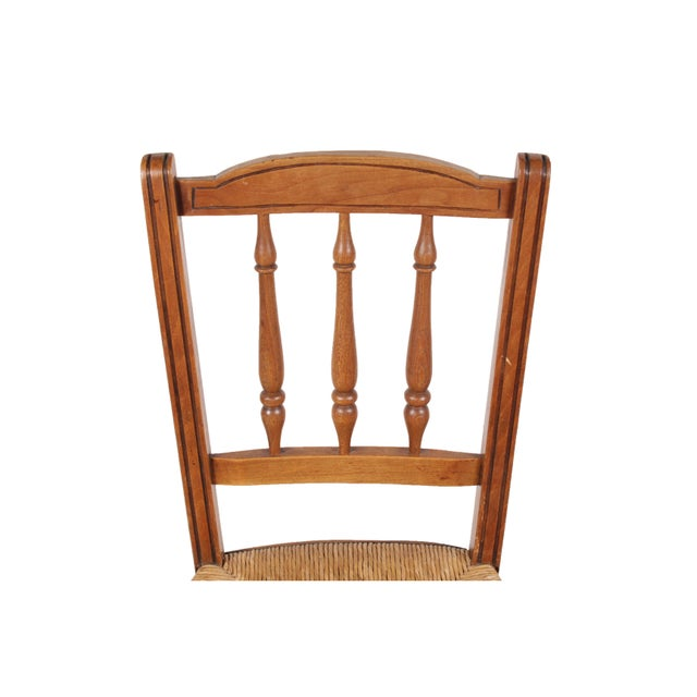 Country French 1940s Rush Chairs - Set of 4 - Image 4 of 9