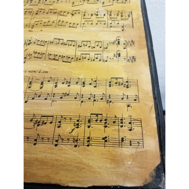 19th Century Country Decoupaged Sheet Music Plant Stand For Sale - Image 4 of 8