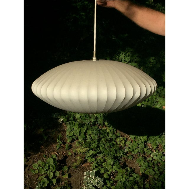 George Nelson Saucer Bubble Pendant Lamp - Image 2 of 7