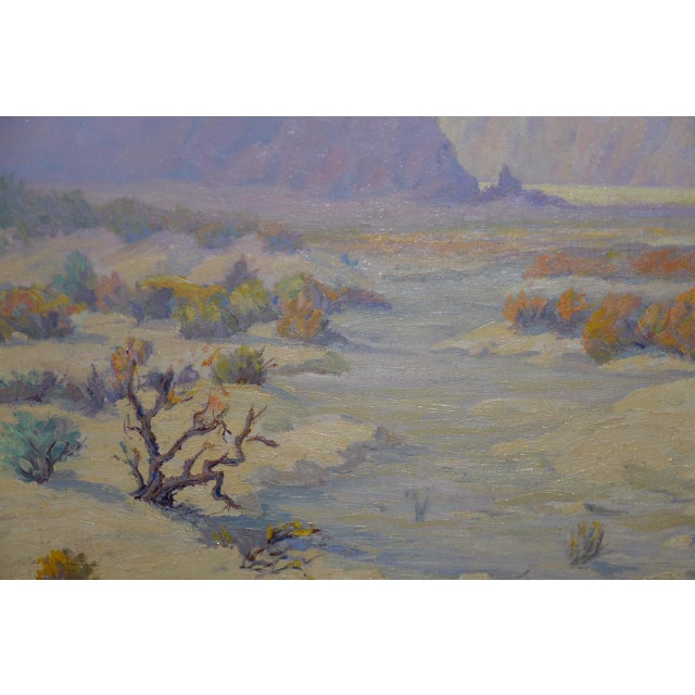 "Blue ""Red Mesa, Az"" Original Desert Landscape Painting C.1940s For Sale - Image 8 of 13"