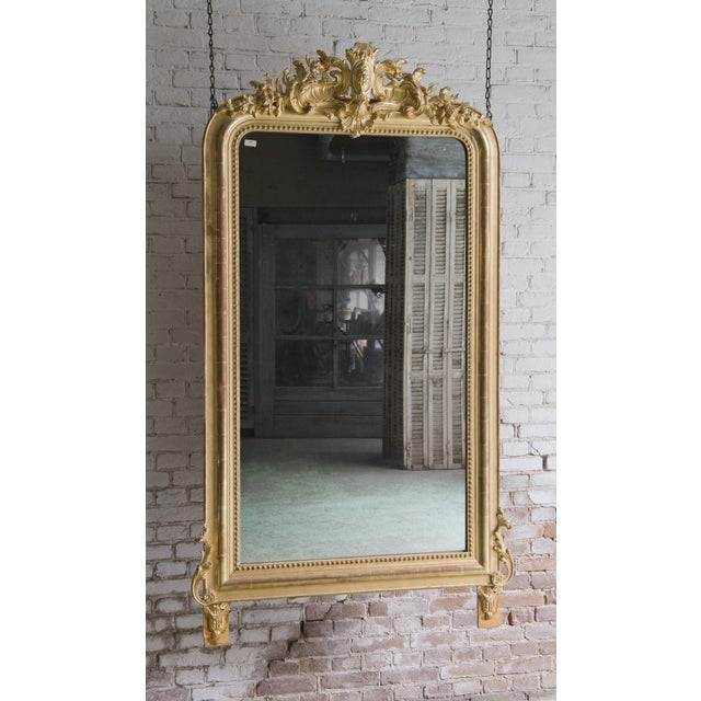 Gold Early 19th Century Mirror South of France For Sale - Image 8 of 8
