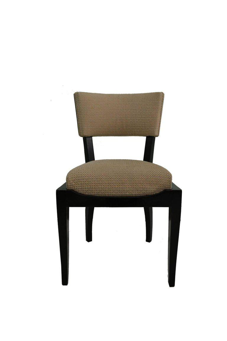 Art Deco Set Of Six Art Deco Dining Chairs Ebony Macassar Wood For Sale    Image
