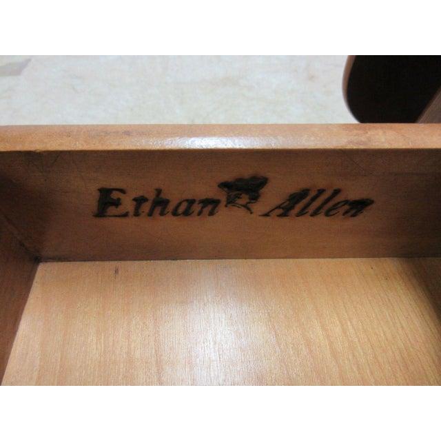 Ethan Allen Heirloom Formica Top Drop Leaf Nutmeg End Table - Image 9 of 11