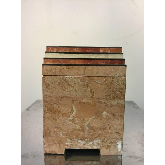 Maitland - Smith ART DECO INSPIRED BOX IN TESSELLATED MARBLE BY MAITLAND-SMITH For Sale - Image 4 of 5
